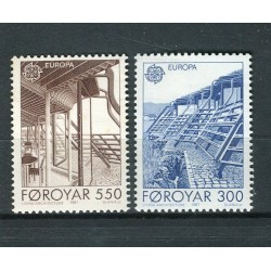 Îles Féroé 1987 - Mi. n. 149/150 - EUROPA CEPT Architecture moderne