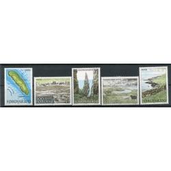 Îles Féroé 1987 - Mi. n. 154/158 - Île de Hestur