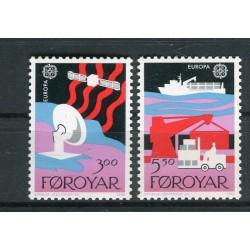 Îles Féroé 1988 - Mi. n. 166/167 - EUROPA CEPT Transport & Communication