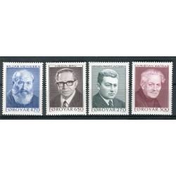 Faroe 1988 -  Mi. n. 168/171 - Writers II
