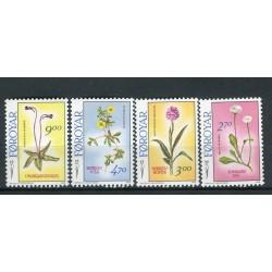 Îles Féroé 1988 - Mi. n. 162/165 - Fleurs