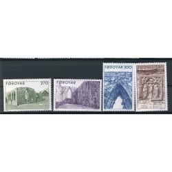 Faroe 1988 - Mi. n. 175/178 - Dom of Kirkjubour