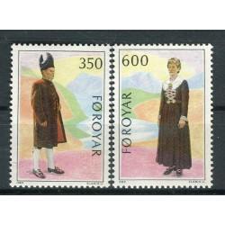 Îles Féroé 1989 - Mi. n. 182/183 - Costumes traditionnels