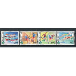 Îles Féroé 1989 - Mi. n. 186/189 - 3èmes Jeux sportifs des Iles
