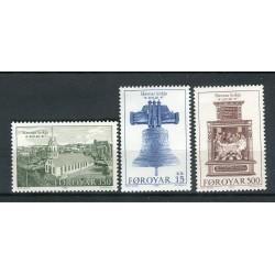 Faroe 1989 - Mi. n. 179/181 - Church of Tornshavn