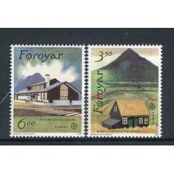 Îles Féroé 1990 - Mi. n. 198/199 - EUROPA CEPT Bâtiments postaux