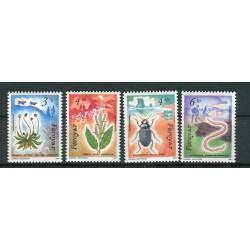 Iles Féroé 1991 - Mi. n. 211/214 - Flore et Faune