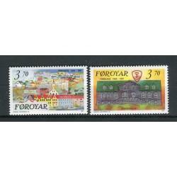 Îles Féroé 1991 - Mi. n. 217/218 - 125ème de Tornshavn