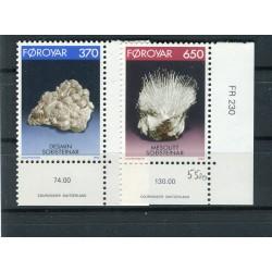 Faroe Islands 1992 - Mi. n. 237/238 - Minerals