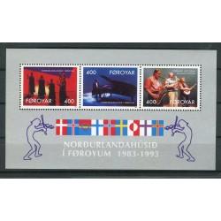 Isole Feroe 1993 - Mi. n. 243 C/245 C Bl. n. 6 - Musica