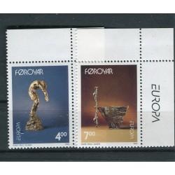 Isole Feroe 1993 - Mi. n. 248/249 - EUROPA CEPT Arte contemporanea