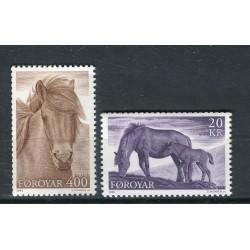 Isole Feroe 1993 - Mi. n. 250/251 - Cavalli