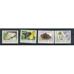 Isole Feroe 1993 - Mi. n. 252/255 - Farfalle