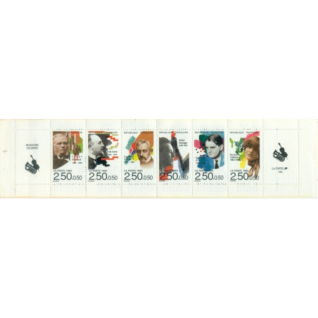 France 1992 - Y & T n. BC2753 - Famous personalities (Michel n. MH 28)