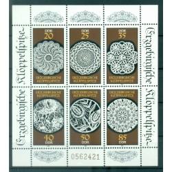 Germany - GDR 1988 - Y & T n. 2821/26 - Laces of the Erzgebirge (Michel n. 3215/20)