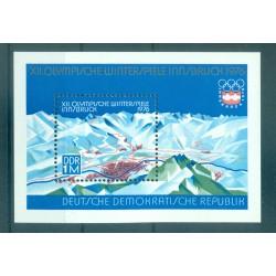 Germany - GDR 1975 - Y & T sheet n. 38 - Winter Olympics (Michel sheet n. 43)