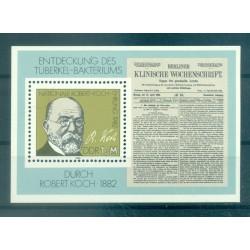 Germany - GDR 1982 - Y & T sheet n. 65 - Robert Koch (Michel sheet n. 67)