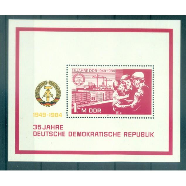 Germany - GDR 1984 - Y & T sheet n. 76 - German Democratic Republic (Michel sheet n. 78)