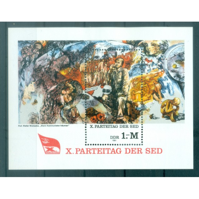 Germany - GDR 1981 - Y & T sheet n. 61 - Socialist Unity Party of Germany (Michel n. 63)