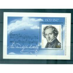 Allemagne - RDA 1984 - Y & T feuillet n. 74 - Felix Mendelssohn (Michel feuillet n. 76)