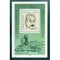 Allemagne - RDA 1979 - Y & T feuillet n. 51 - Albert Einstein (Michel feuillet n. 54)