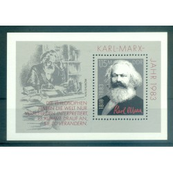 Germania - RDT 1983 - Y & T foglietto n. 69 - Karl Marx (Michel foglietto n. 71)