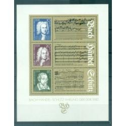 Allemagne - RDA 1985 - Y & T feuillet n. 80 - Grands musiciens allemands (Michel feuillet n. 81)
