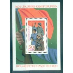 Allemagne - RDA 1973 - Y & T feuillet n. 34 - Groupes de combat (Michel n. 39)
