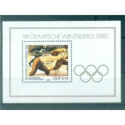 Allemagne - RDA 1980 - Y & T feuillet n. 55 - Jeux olympiques d'hiver (Michel feuillet n. 57)