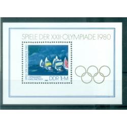 Allemagne - RDA 1980 - Y & T feuillet n. 58 - Jeux olympiques de Moscou (Michel feuillet n. 60)