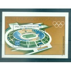Allemagne - RDA 1976 - Y & T feuillet n. 41 - Jeux olympiques de Montreal (Michel feuillet n. 46)