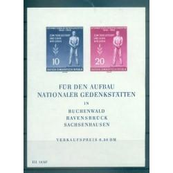 Germania - RDT 1955 - Y & T  foglietto n. 5 - Liberazione dei campi di deportazione (Michel foglietto n. 11)