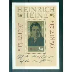 Allemagne - RDA 1972 - Y & T feuillet n. 32 - Heinrich Heine (Michel n. 37)