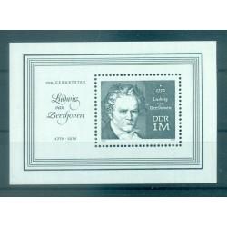 Allemagne - RDA 1970 - Y & T feuillet n. 28 - Ludwig van Beethoven (Michel feuillet n. 33)