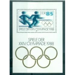 Allemagne - RDA 1988 - Y & T feuillet n. 93 - Jeux olympiques d'été (Michel feuillet n. 94)