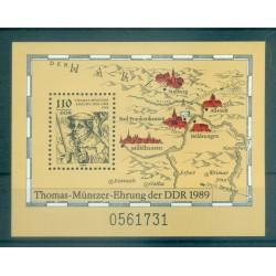 Germany - GDR 1989 - Y & T sheet n. 96 - Thomas Müntzer (Michel sheet n. 97)