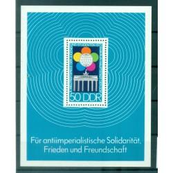 Allemagne - RDA 1973 - Y & T feuillet n. 33 - Festival mondial de la jeunesse (Michel feuillet n. 38)