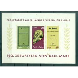 Allemagne - RDA 1968 - Y & T feuillet n. 22 - Karl Marx (Michel feuillet n. 27)