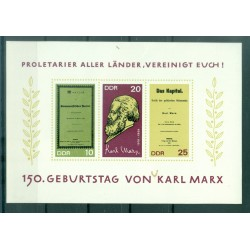 Germania - RDT 1968 - Y & T foglietto n. 22 - Karl Marx (Michel foglietto n. 27)