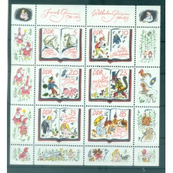 Allemagne - RDA 1985 - Y & T n. 2610/15 - Les frères Grimm  (Michel n. 2987/92)