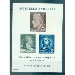 Germania - RDT 1955 - Y & T  foglietto n. 6 - Friedrich Schiller (Michel foglietto n. 12 X II)