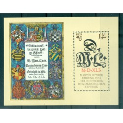 Germania - RDT 1983 - Y & T foglietto n. 71 - Martin Lutero (Michel foglietto n. 73)