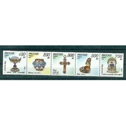 Russian Federation 1995 - Y & T n. 6142/46 - Maison Fabergé Jewerly