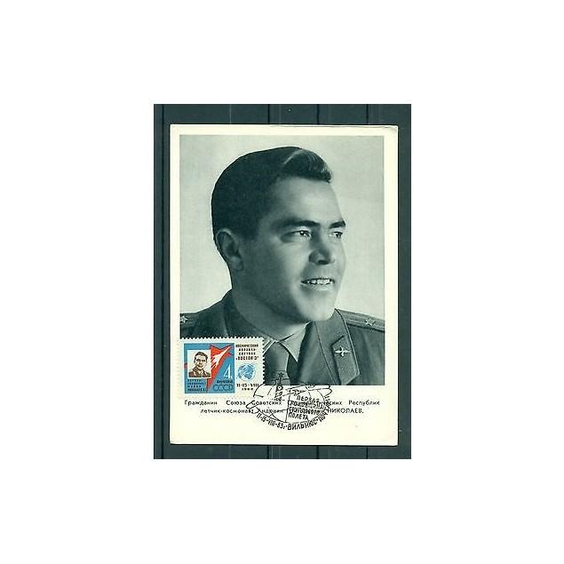 Russie - USSR 1962 - Carte postale cosmonaute Andrian Nikolaïev