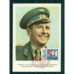 Russie - USSR 1962 - Carte postale cosmonaute Pavel Popovitch - II