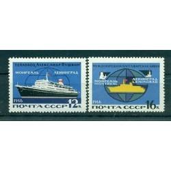 URSS 1966 - Y & T n. 3085/86 - Ligne maritime Leningrad-Montréal
