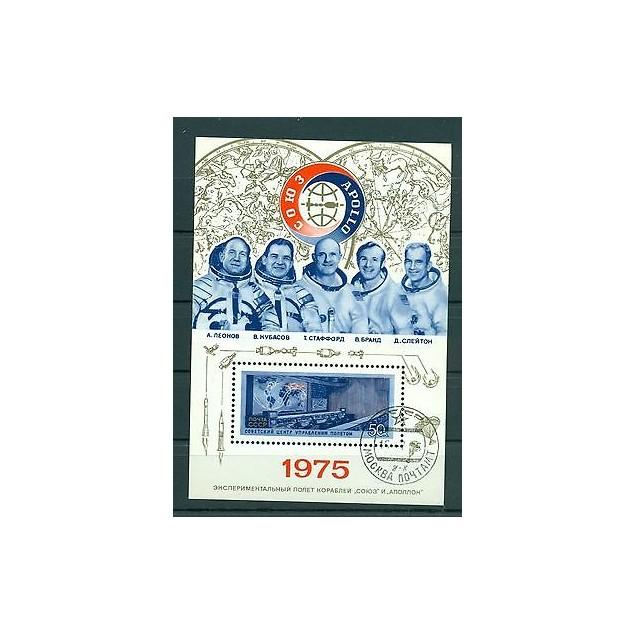 Russie - USSR 1975 - Michel feuilet n.105 - Rendez-vous spatial américano-soviét