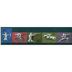 Russie - USSR 1977 - Michel n. 4642/46 - Jeux olympiques d'été de 1980