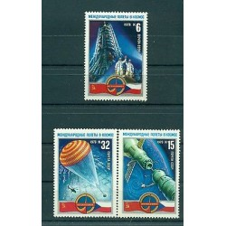 USSR 1978 - Y & T n. 4463/65 - Space cooperation with Czechoslovakia