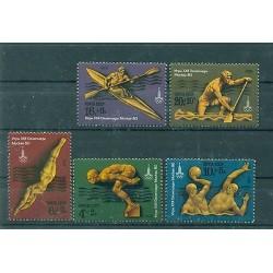 Russie - USSR 1978 - Michel n. 4707/11 - Jeux olympiques d'été de 1980